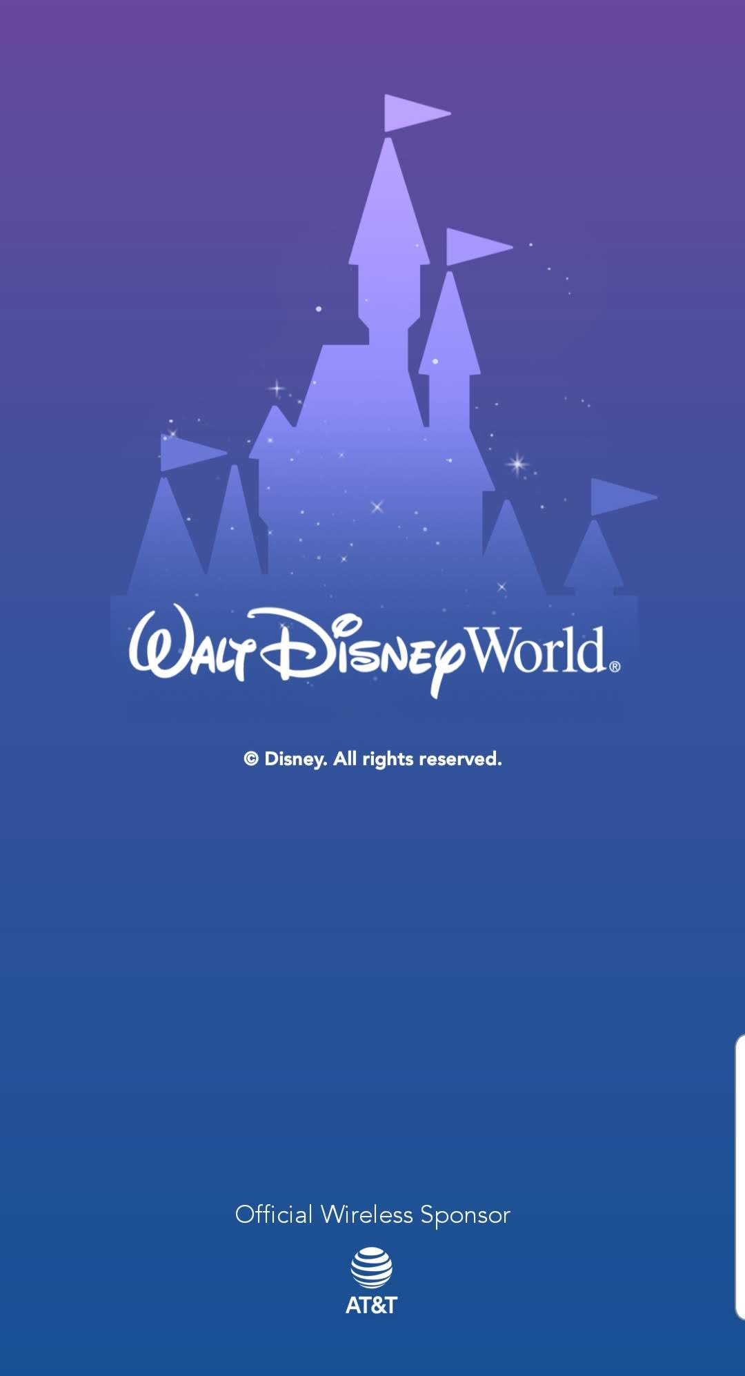 Disney app home screen