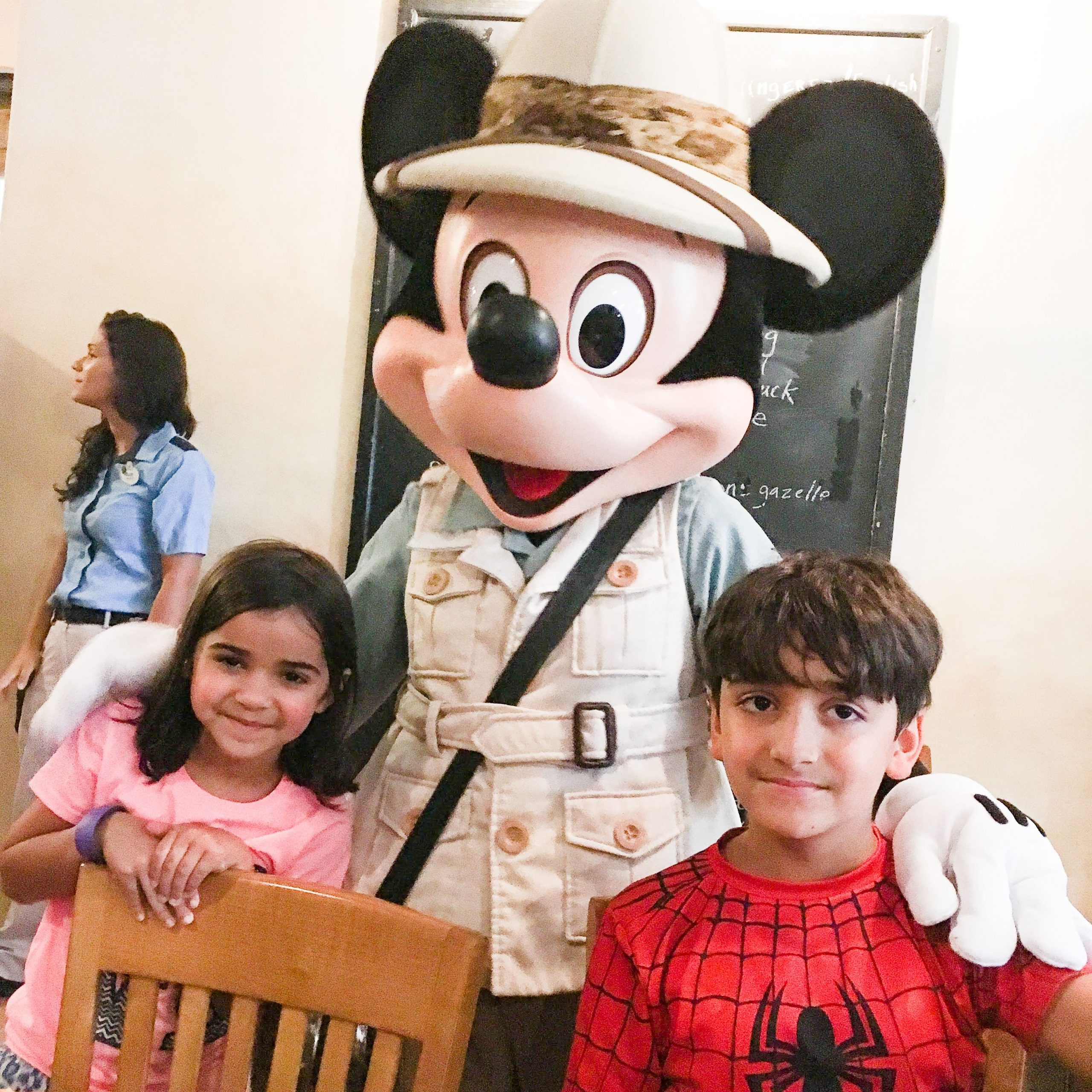 Mickey Mouse at Tusker House Restaurant Disney's Animal Kingdom