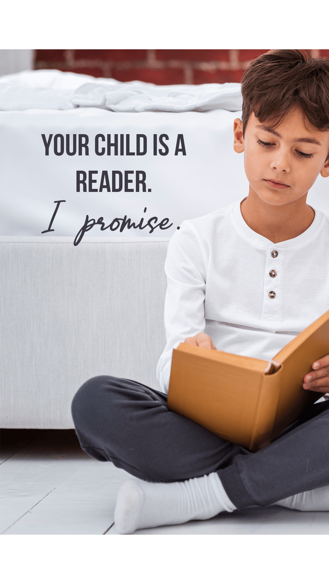 Just because your child hasn't found a book that speaks to him yet, it does not mean that he is not a reader. Your child is a reader. I promise.