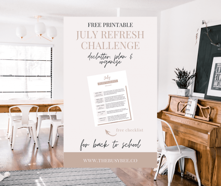 July Refresh Challenge: Declutter, Plan and Organize for Back to School