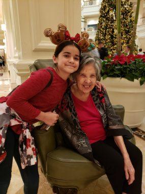 Grandma and great-granddaughter at DIsney's Grand Floridian resort