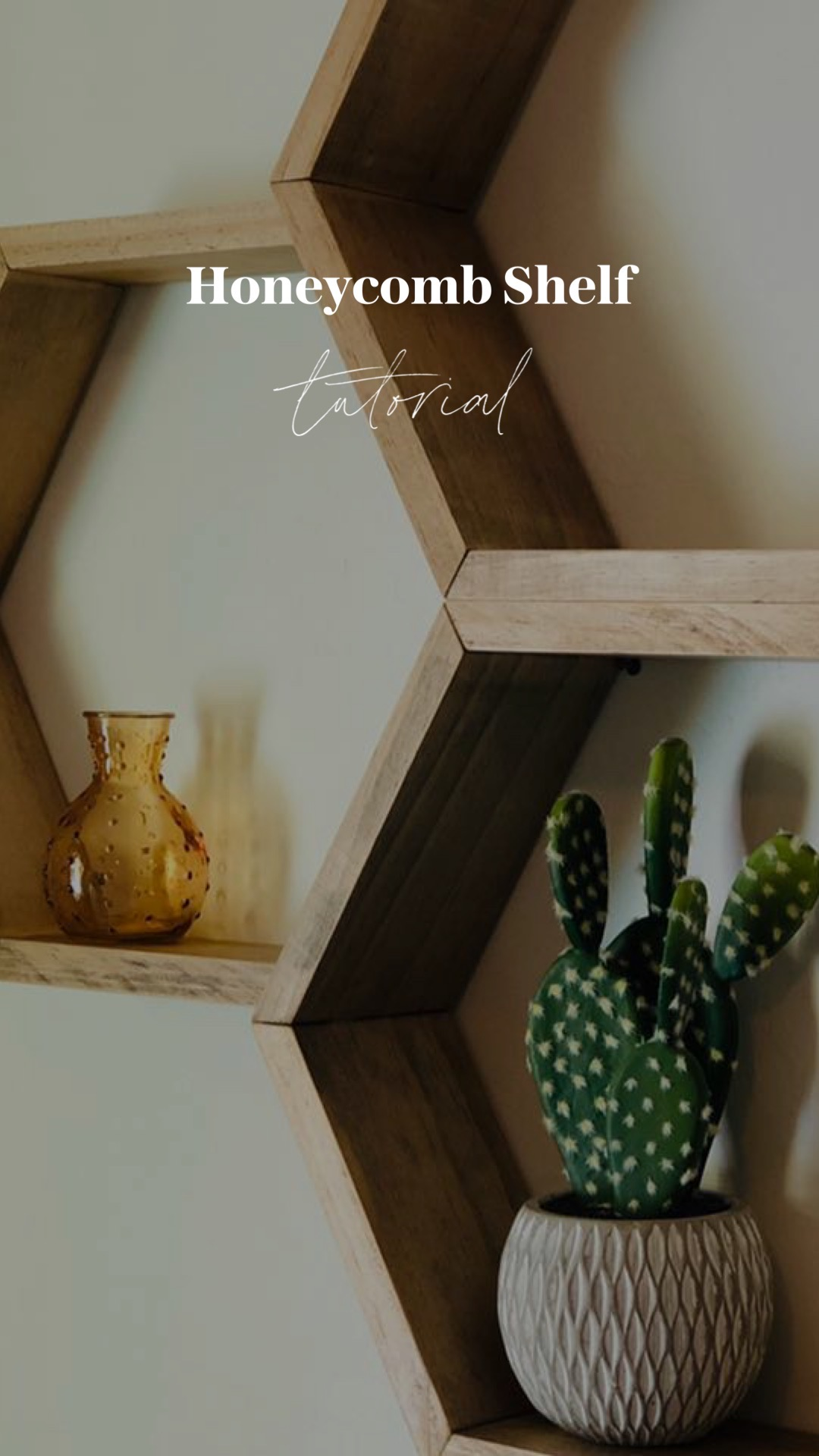 DIY honeycomb shelf tutorial