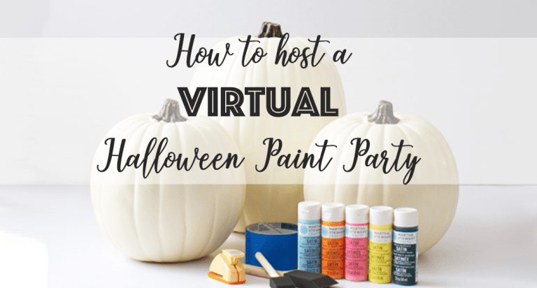 How to Host a VIRTUAL Non-Halloween Painting Party