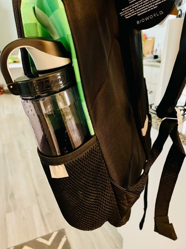 backpack with water bottle pouch