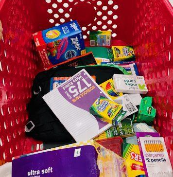 Back to School Shopping Cart