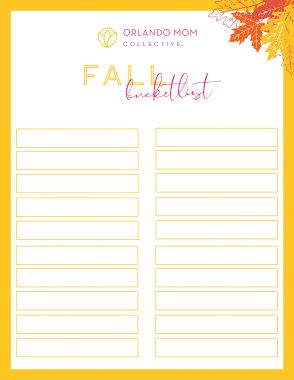 BLANK Fall Bucket List